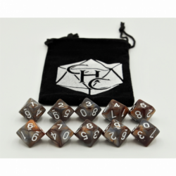 Black Shadow Set of 7 Metal Polyhedral Dice with Silver Numbers for D20 based RPG's