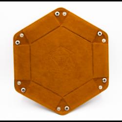 Hexagon Dice Tray - Brown