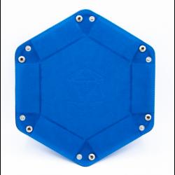 Hexagon Dice Tray - Blue