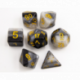 Gray Set of 7 Multi-layer Polyhedral Dice with White Numbers for D20 based RPG's