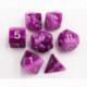 Purple Set of 7 Multi-layer Polyhedral Dice with White Numbers for D20 based RPG's