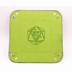 Square Dice Tray - Lime Green