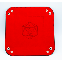 Square Dice Tray - Red